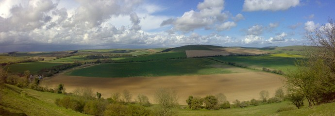South Downs as seen from Angmering Park Estate near Arundel